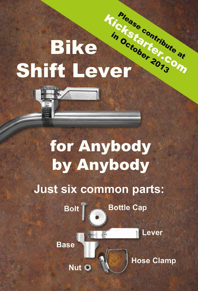 bicycle shift lever for web medium